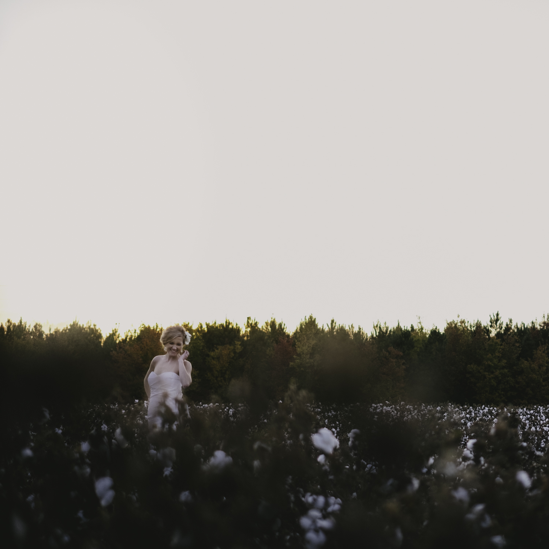 Greenville cotton field bridal session
