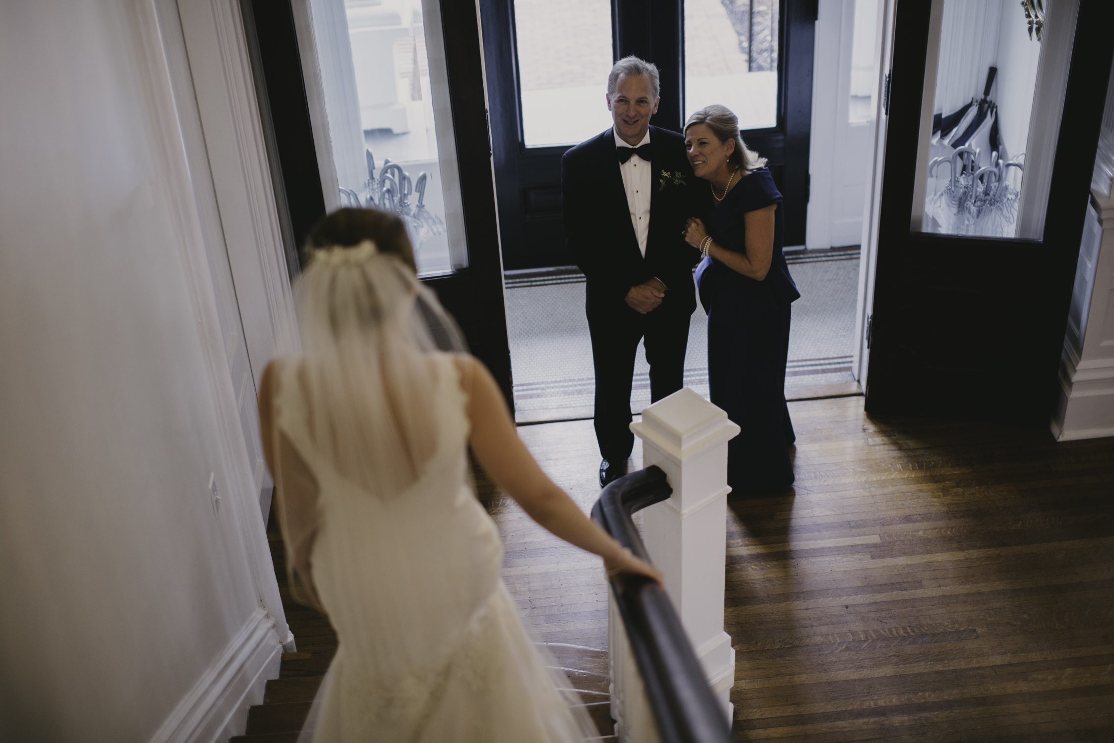 merrimon wynne down stairs father daugther first look