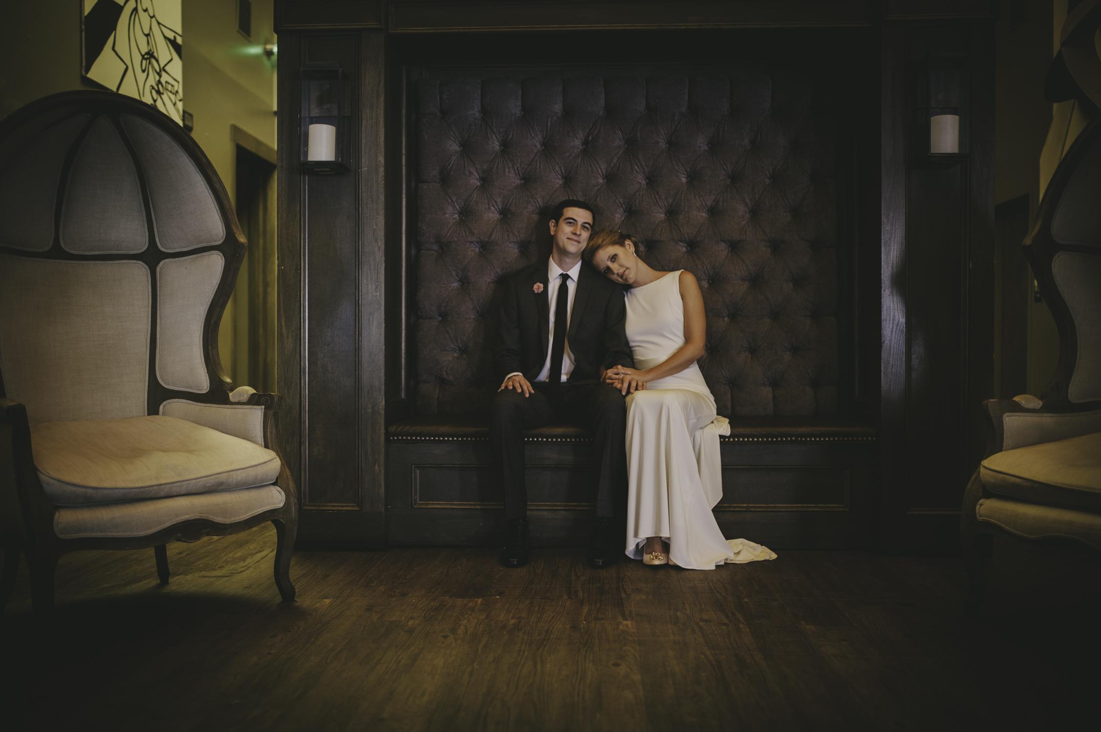 wedding portrait the architect bar and social house raleigh nc