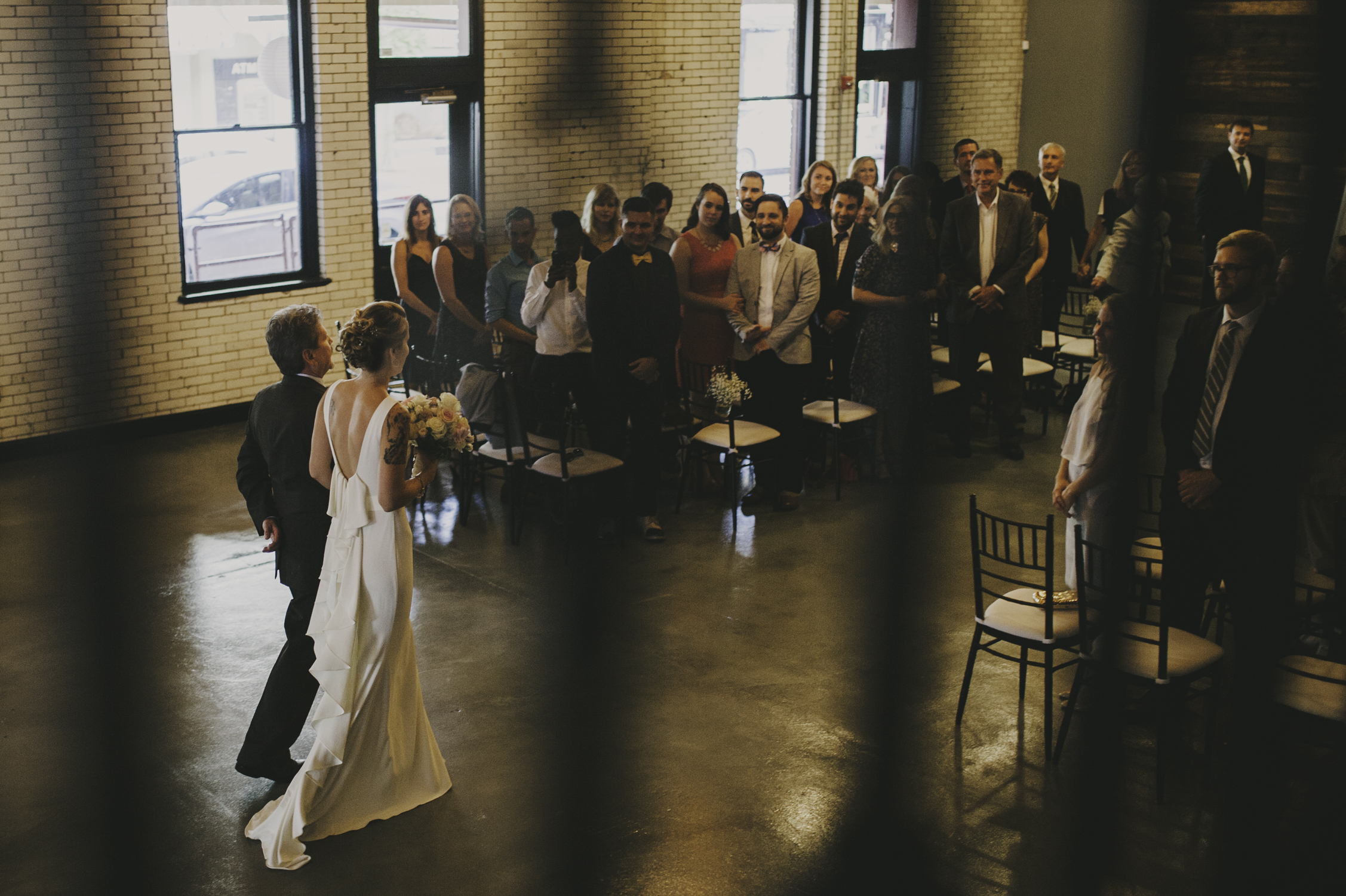wedding ceremony at 214 martin raleigh nc