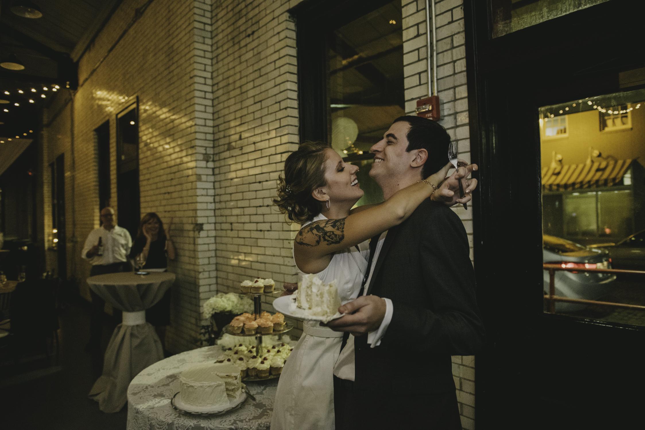wedding cake smash at 214 martin raleigh nc