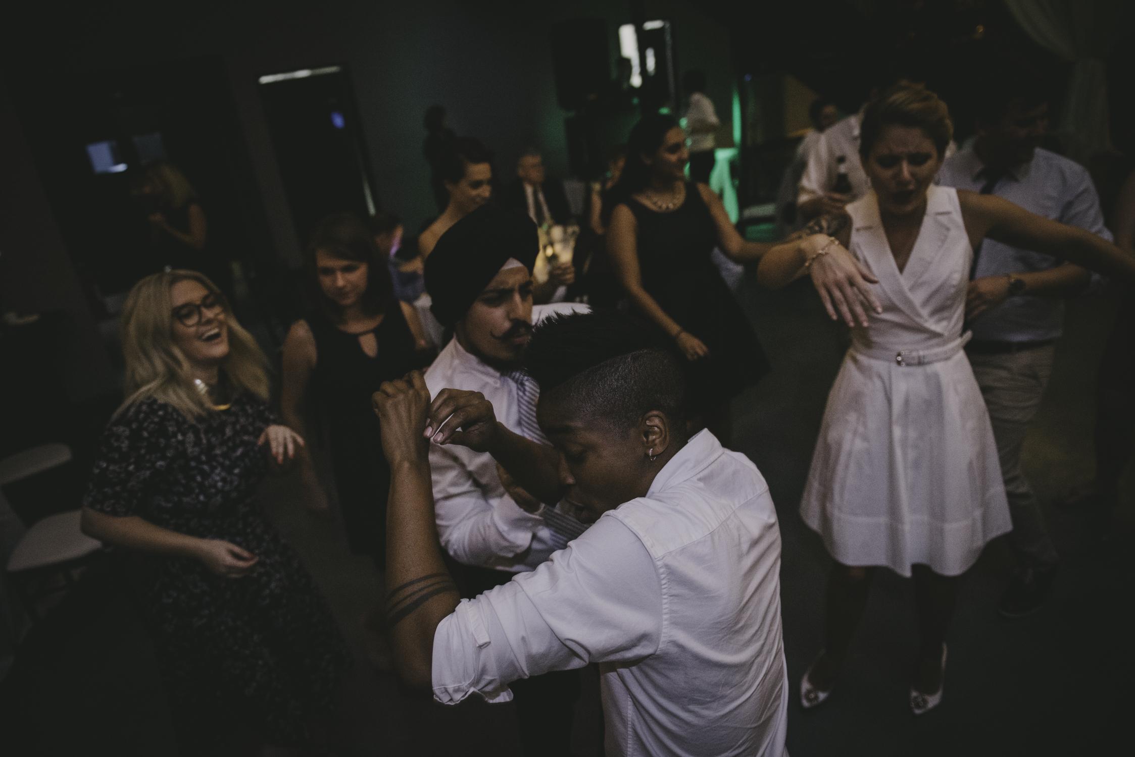 wedding reception at 214 martin raleigh nc