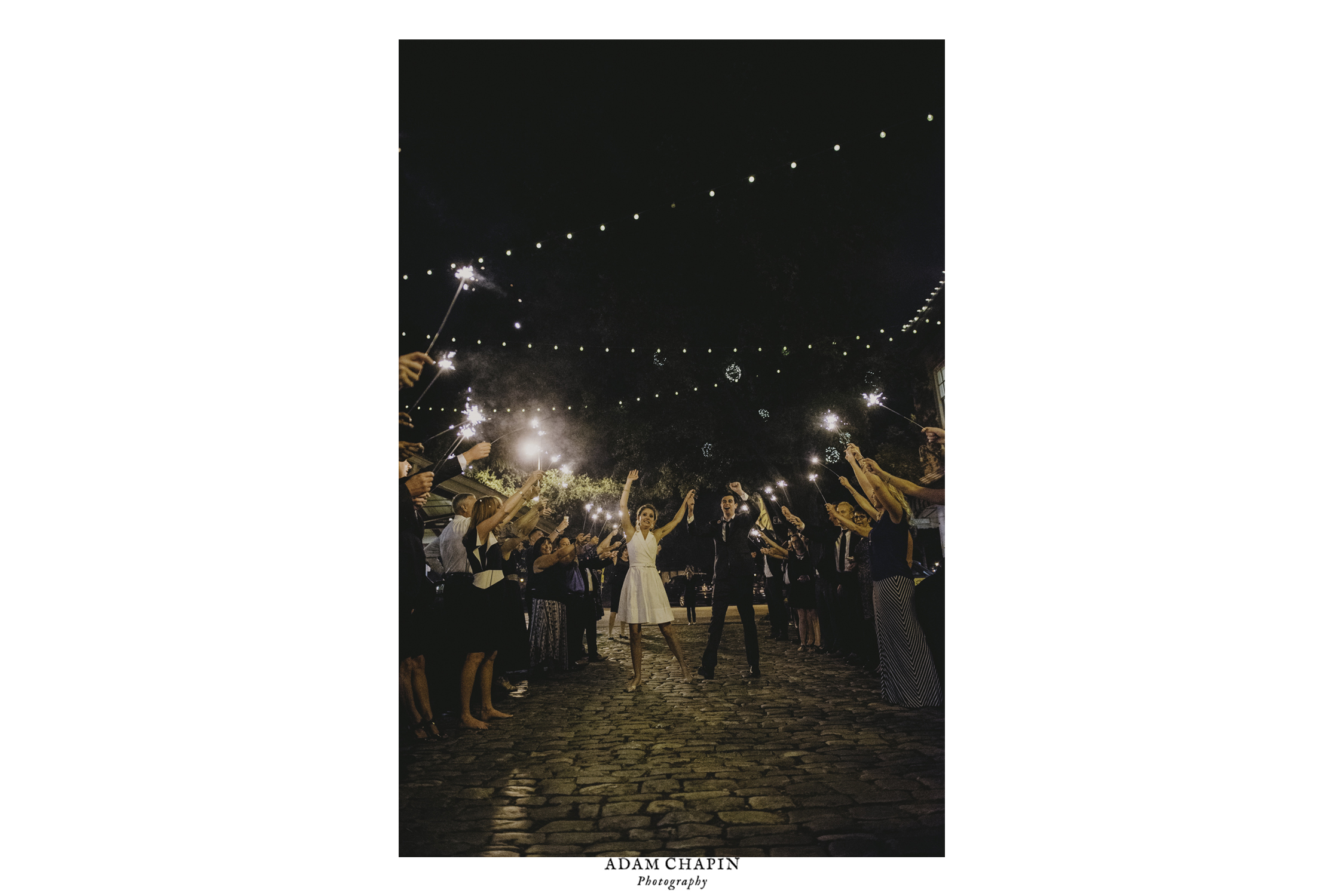wedding sparkler exit at 214 martin raleigh nc