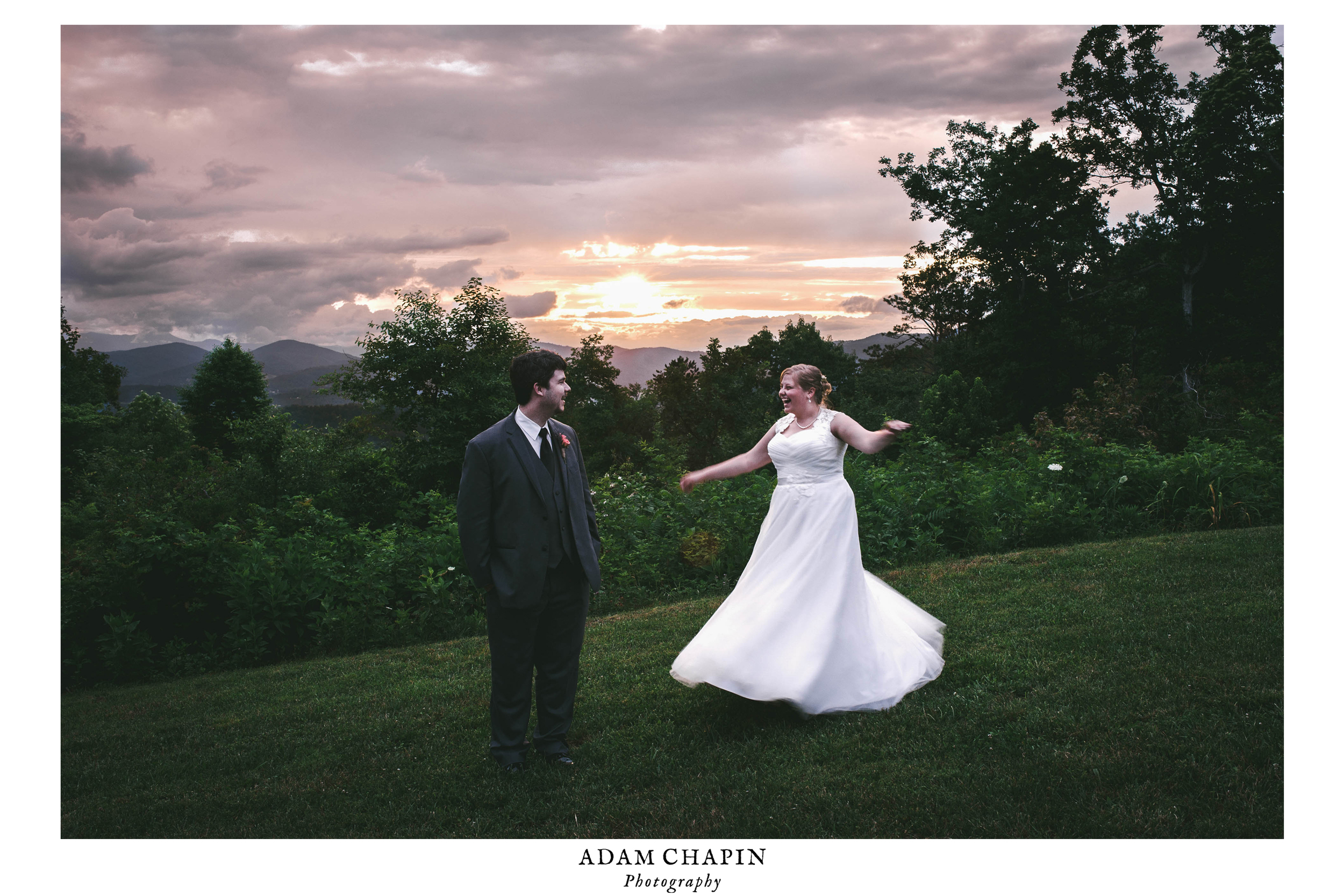 the cabin ridge wedding hendersonville nc