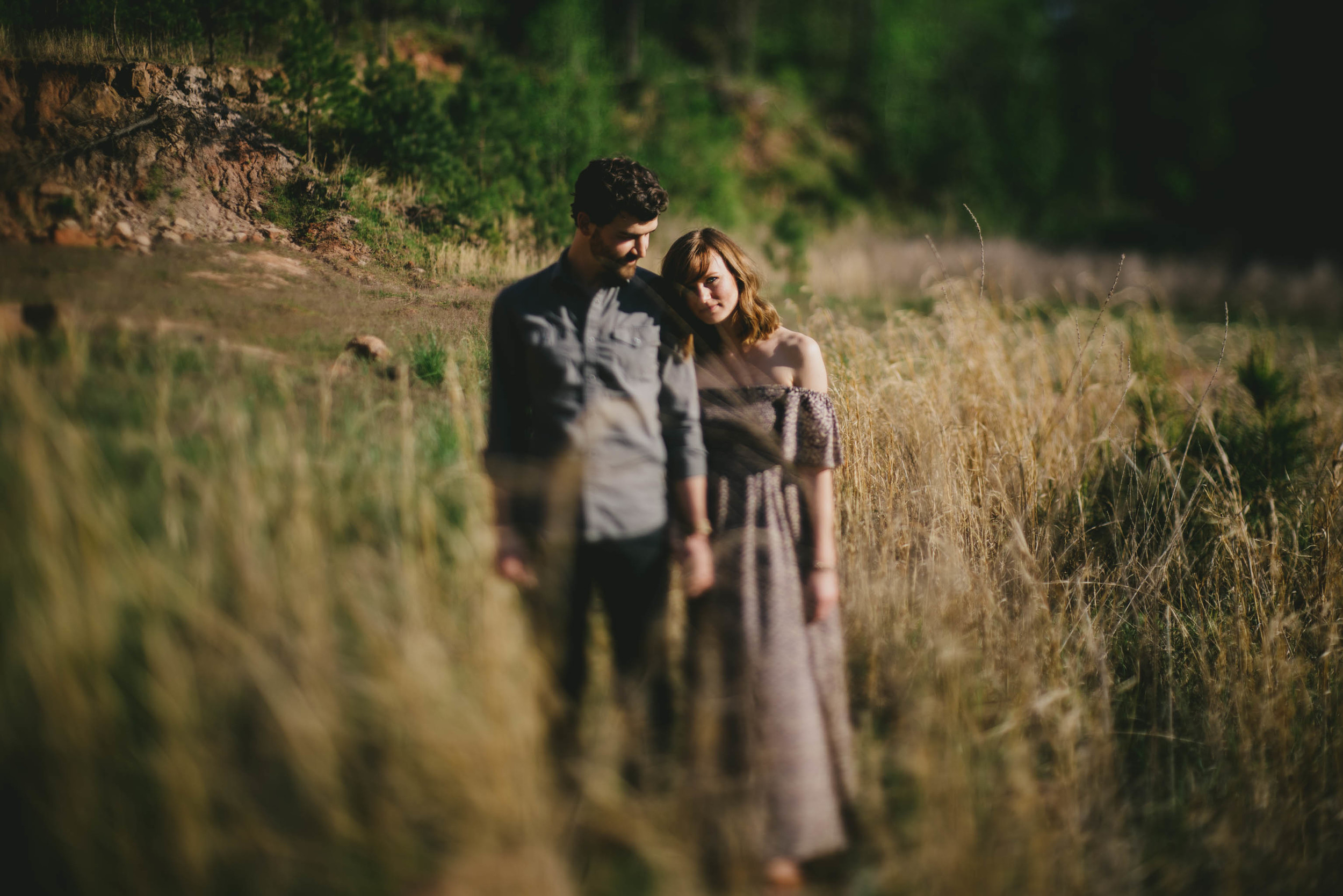 rustic raleigh engagement photos