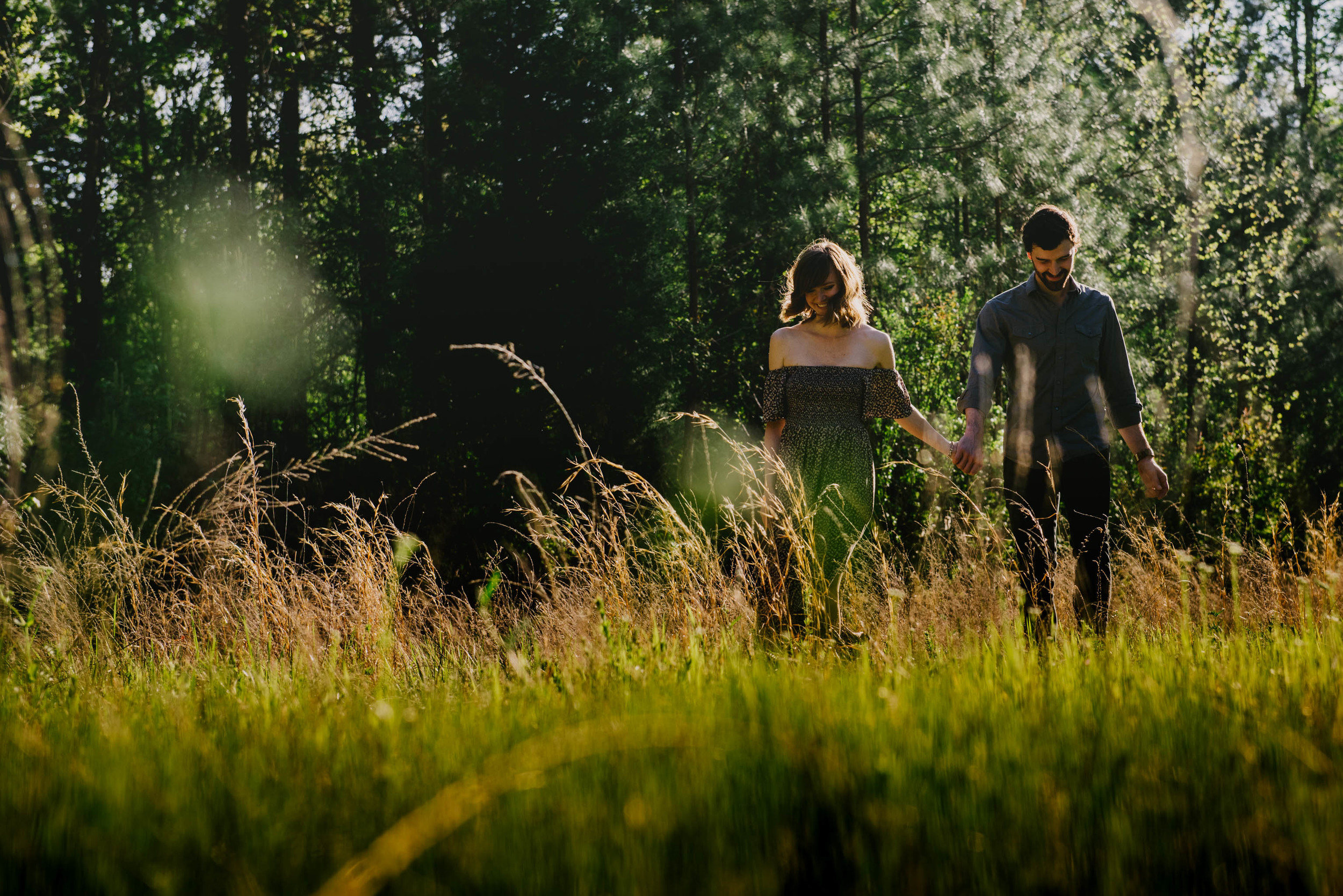 rustic raleigh engagement photography