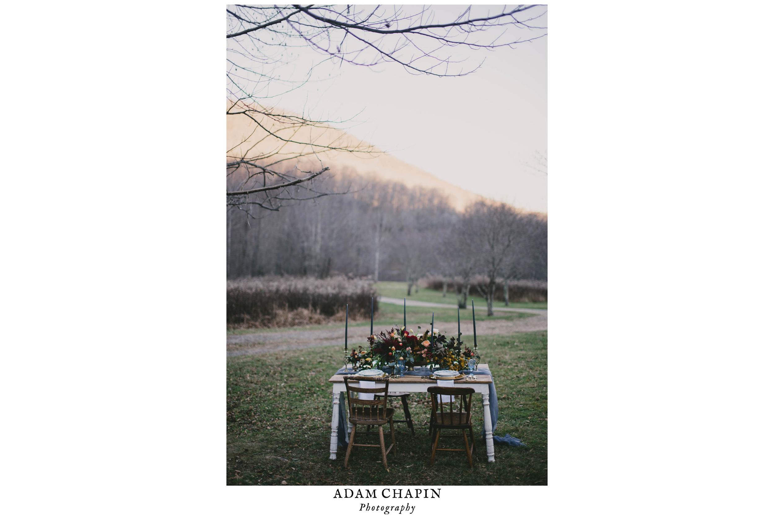 styled mountain wedding photos