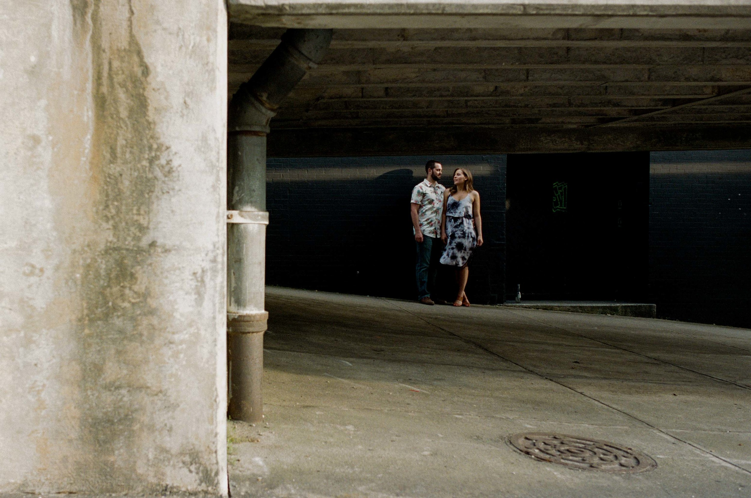 downtown wilmington engagement photo