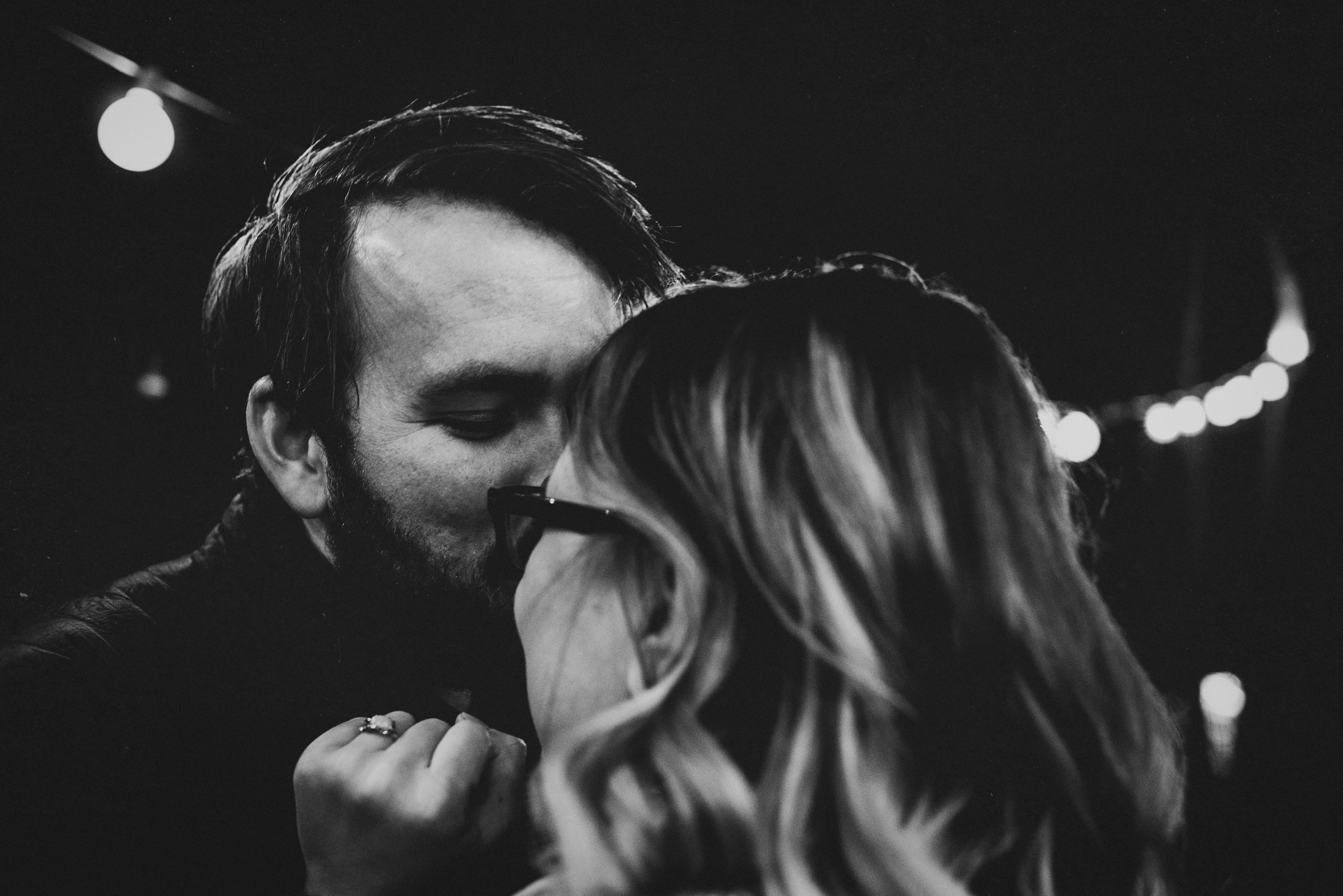 He was warming her nose with his kiss in Greenboro, North Carolina