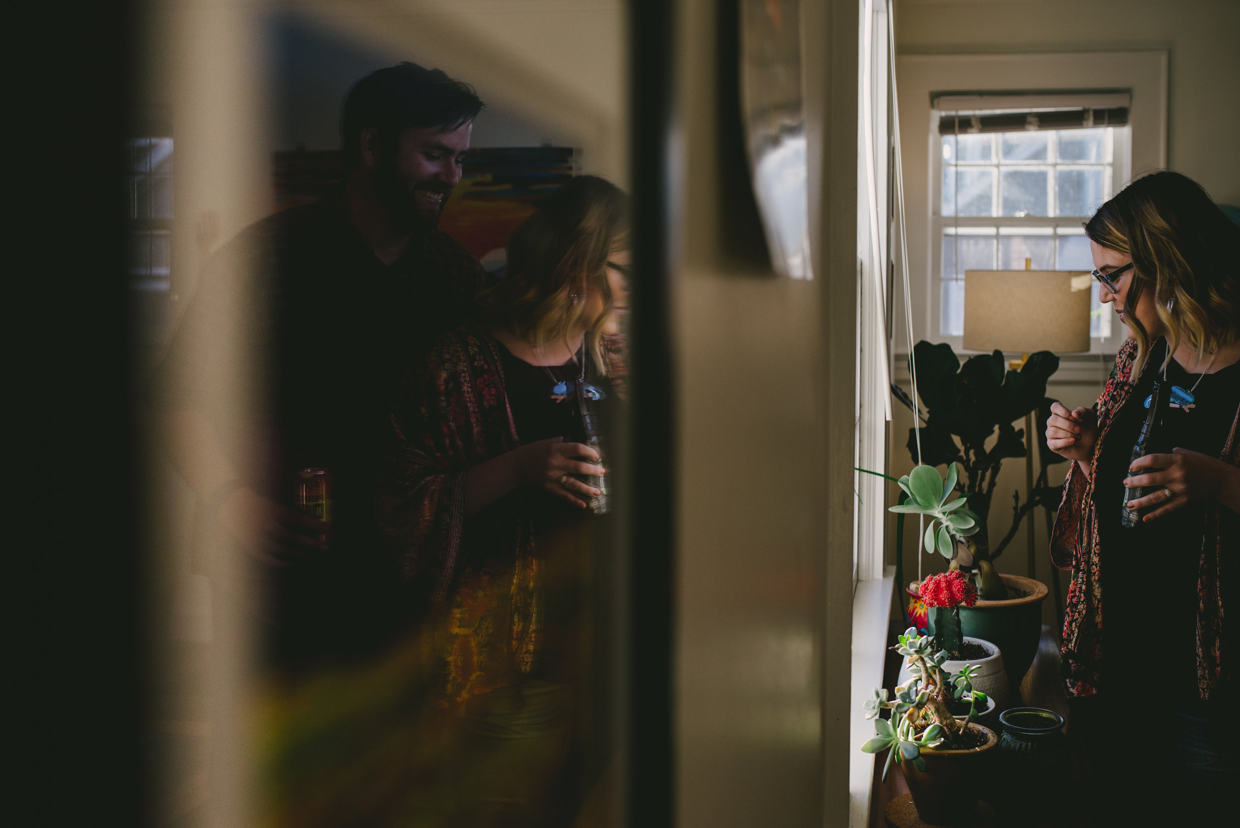 He was sneaking up behind her as she showed me her favorite plants at their home in the Lindley Park neighborhood in Greensboro, North Carolina