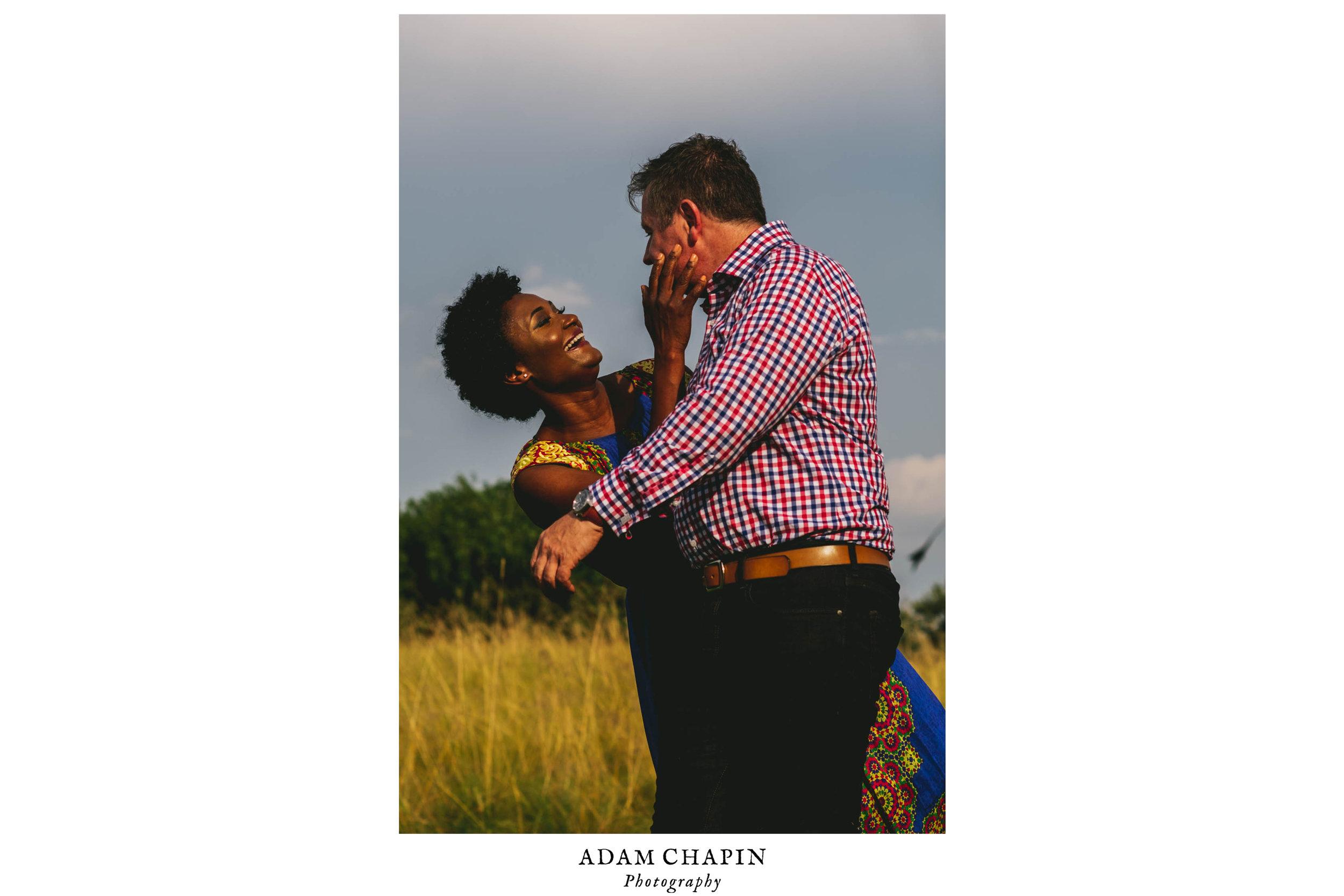 Couple Enjoying Their Engagement Session
