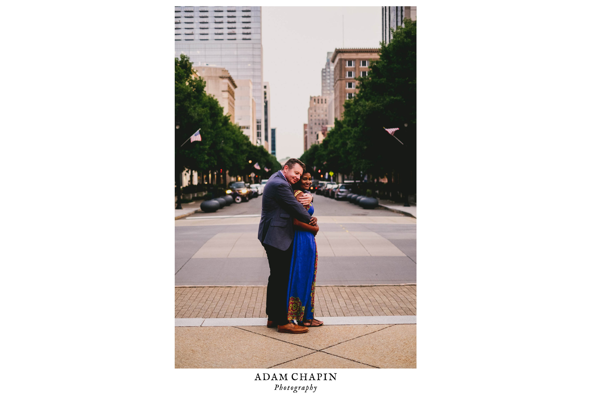 Classic Downtown Raleigh Engagement Photo