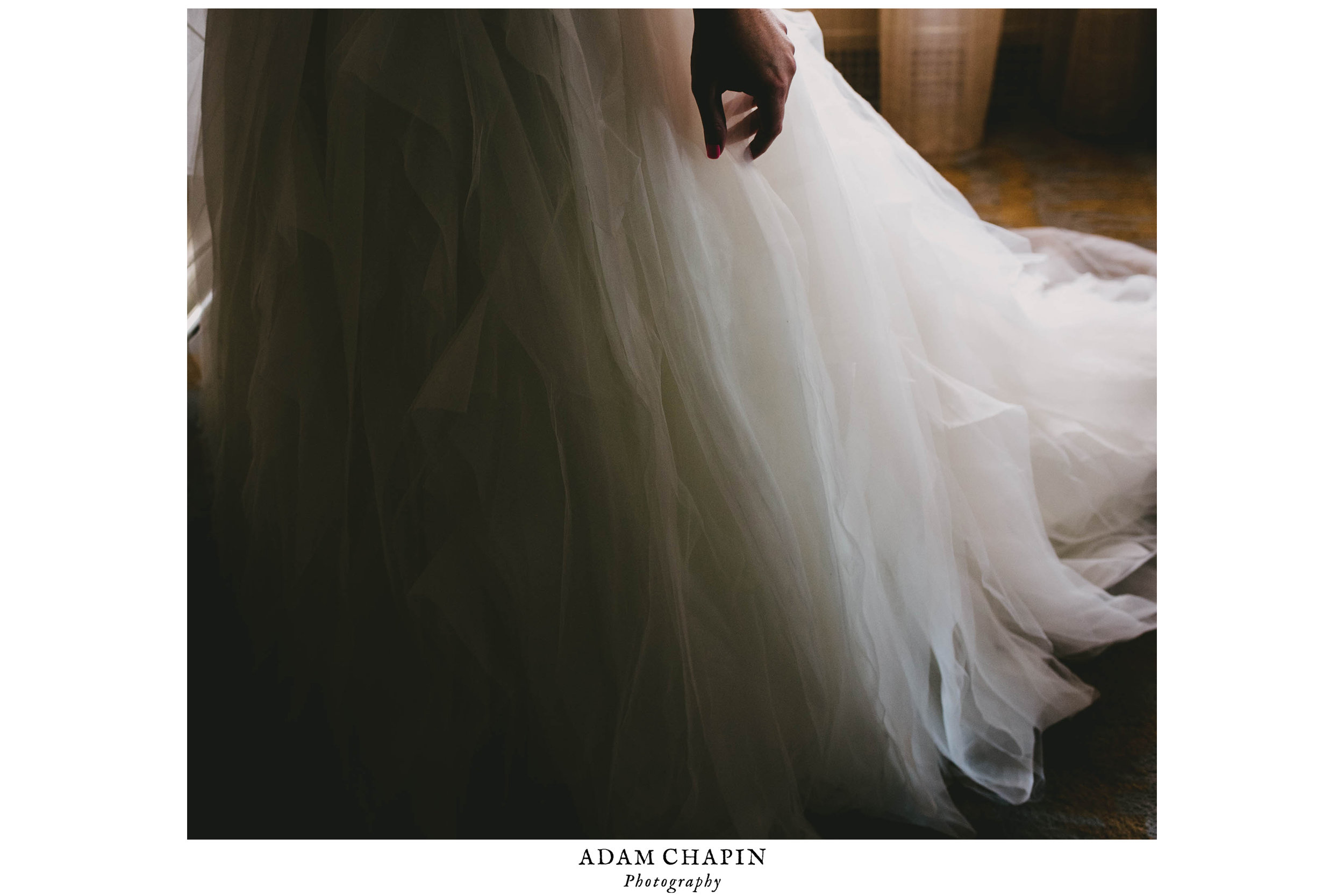 moody details of brides dress
