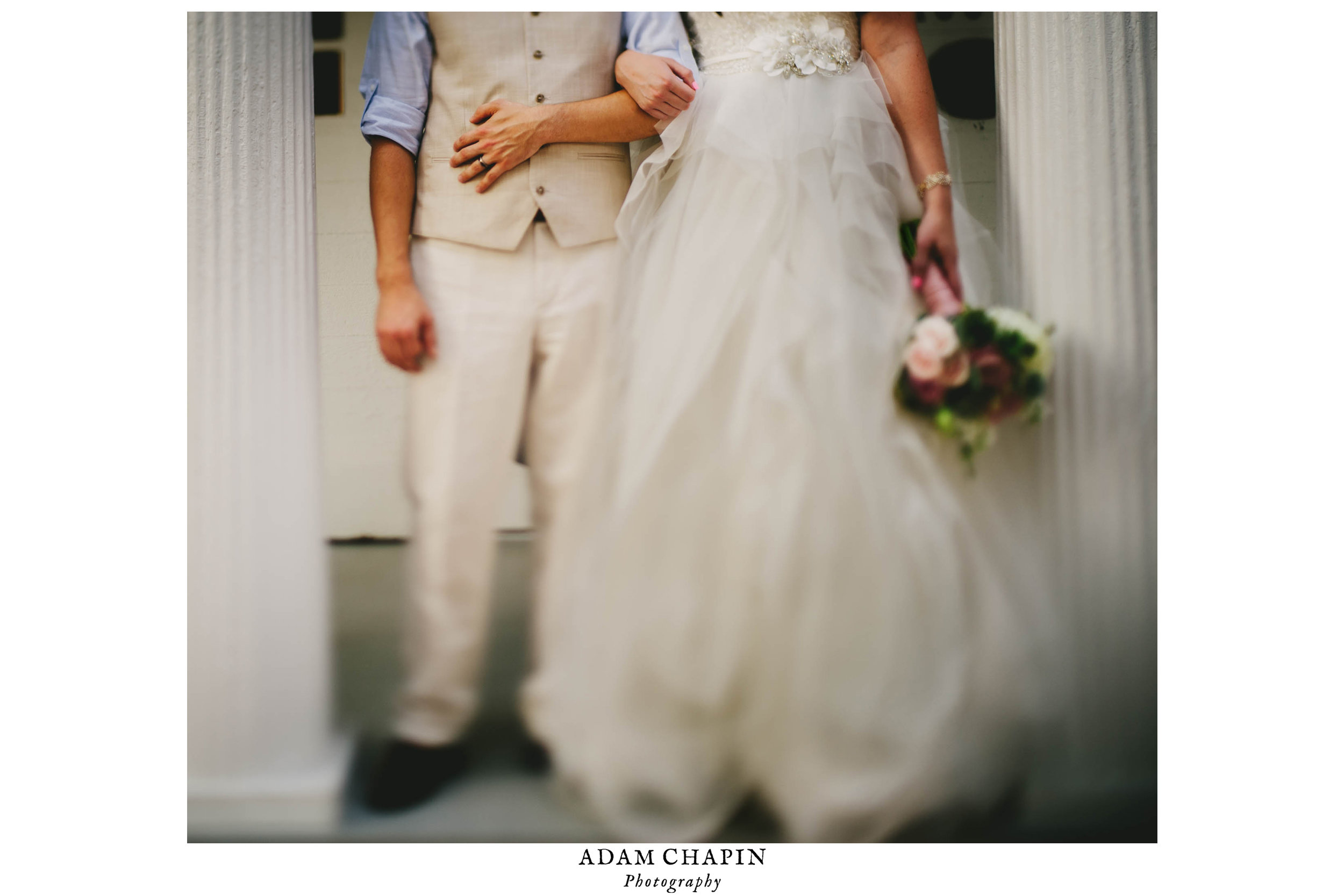 details of bride and grooms wedding style