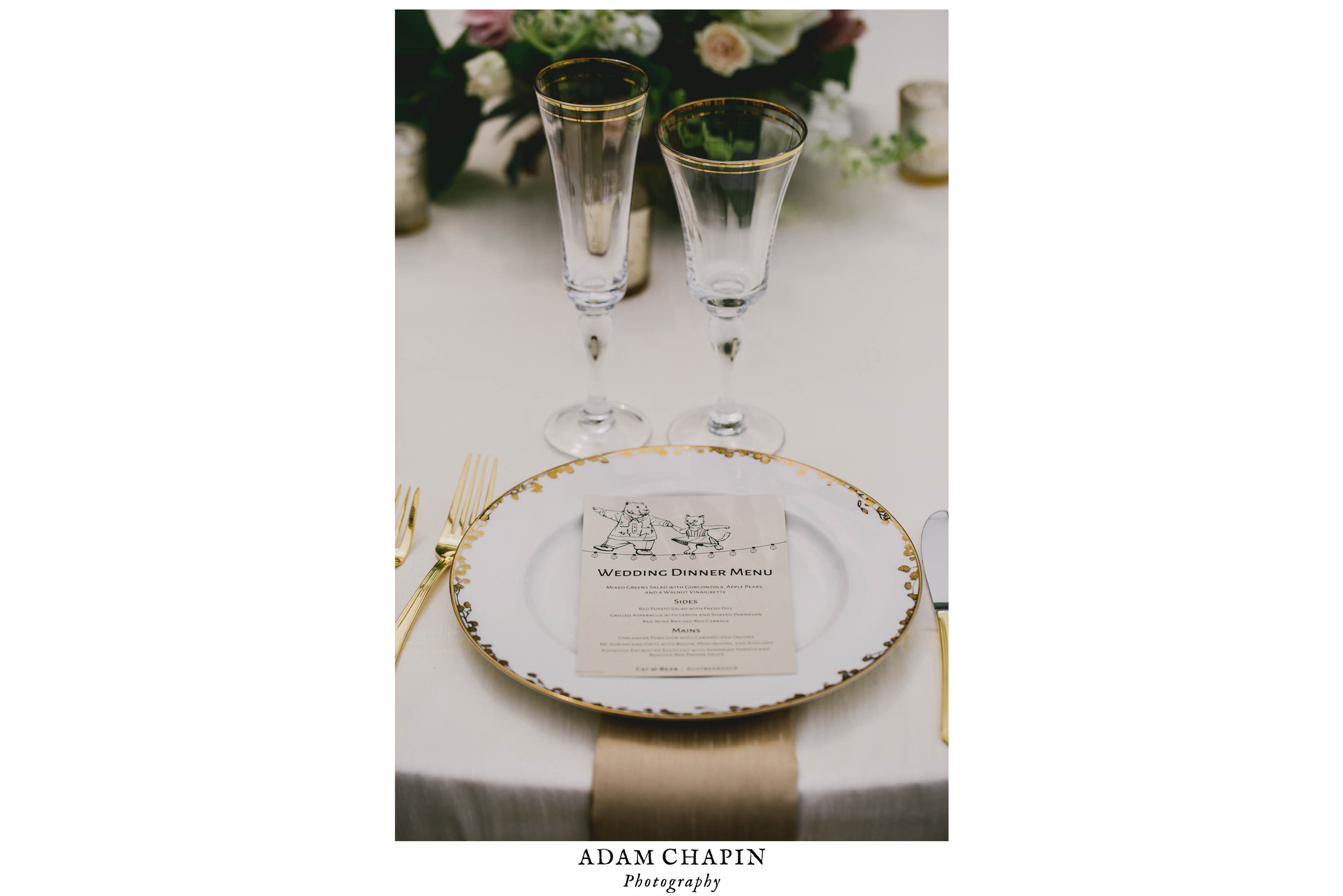 wedding reception dinner table details
