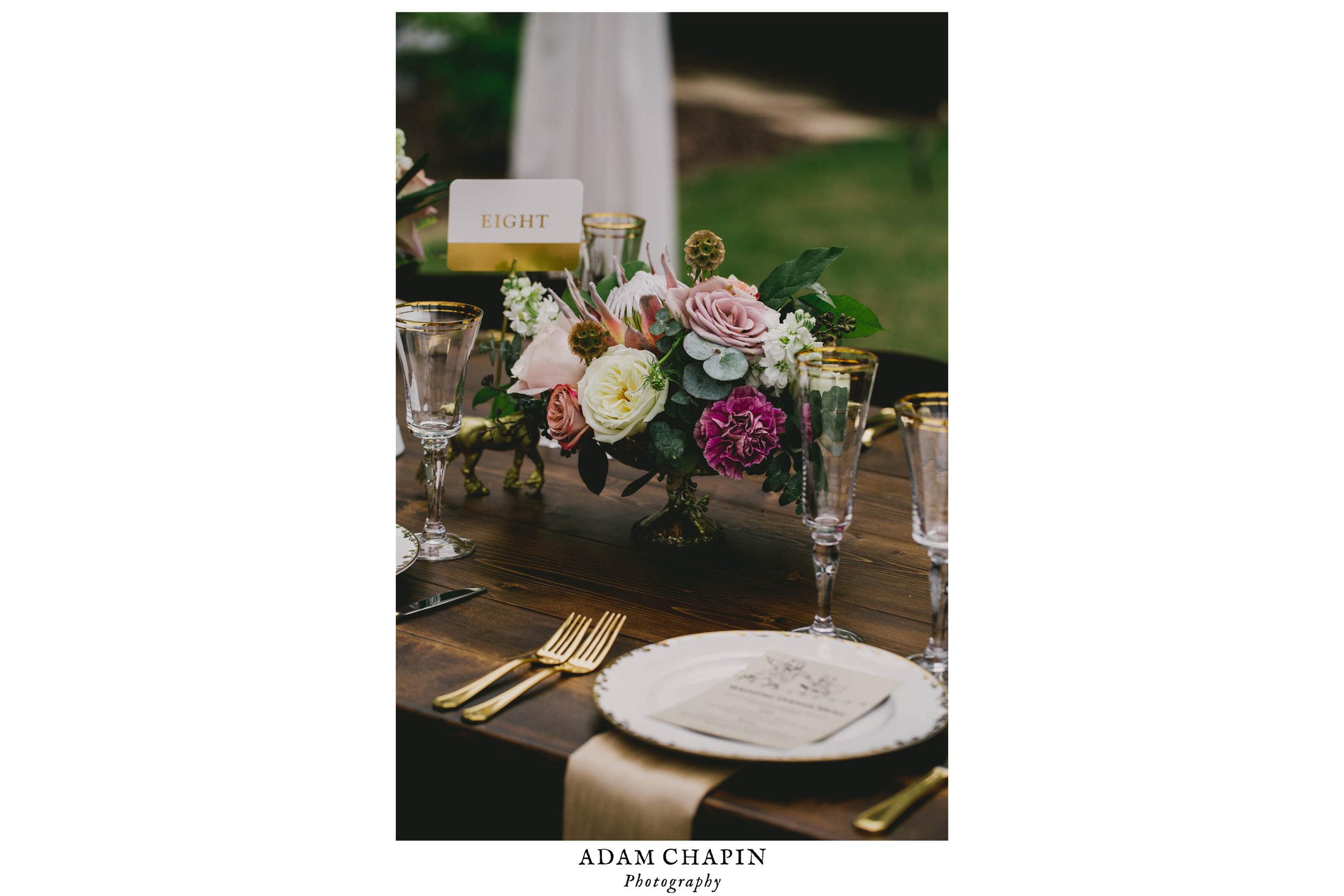 wedding reception dinner table plating details