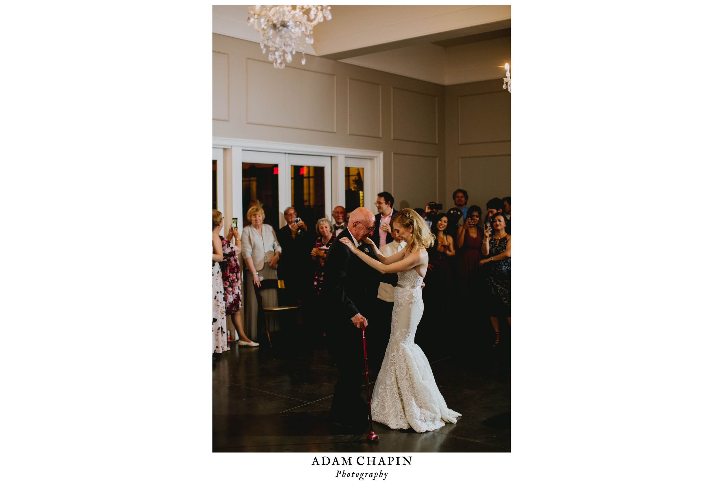 bride and her father during their father-daughter dance