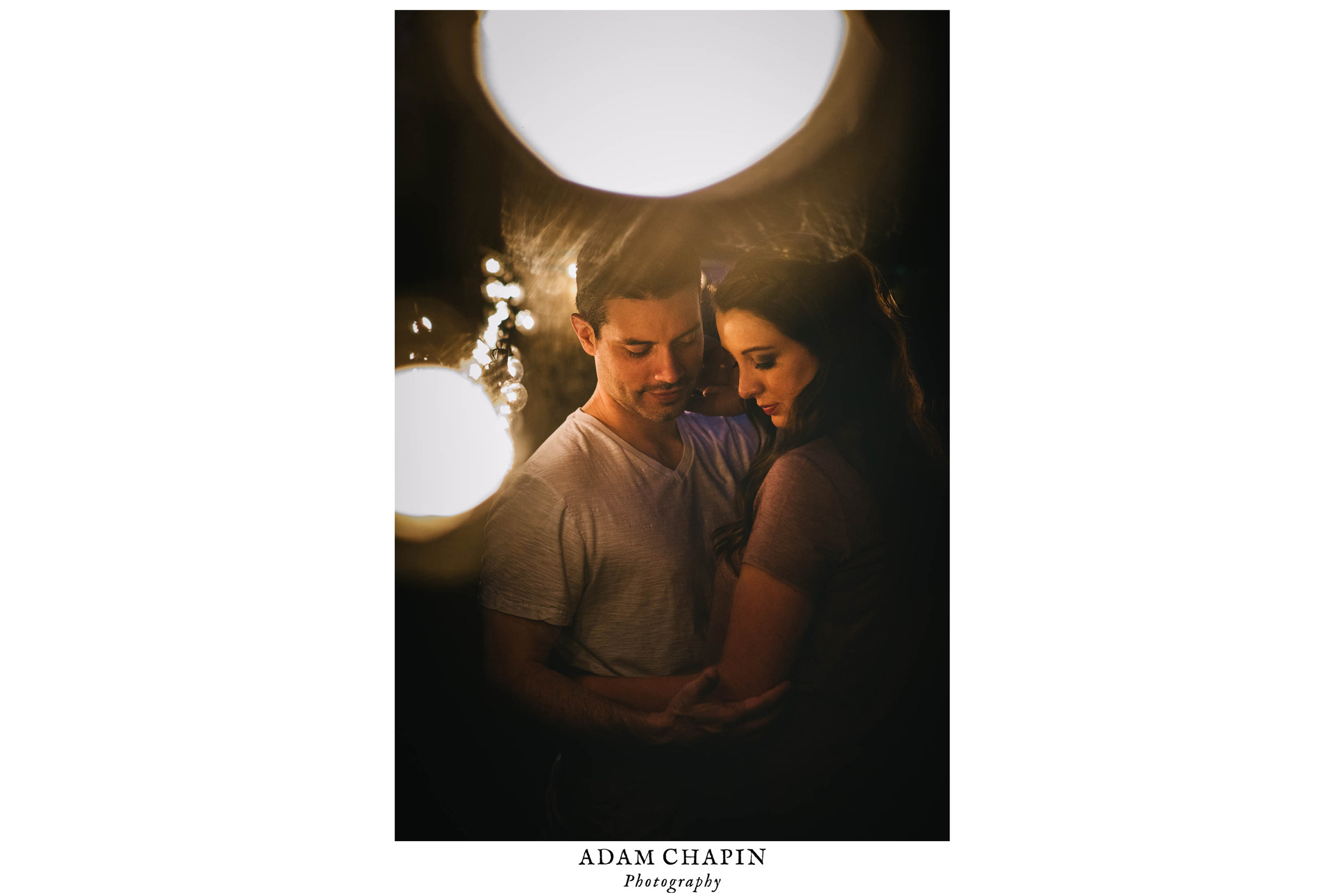 intimate couple during their engagement session in Durham, North Carolina