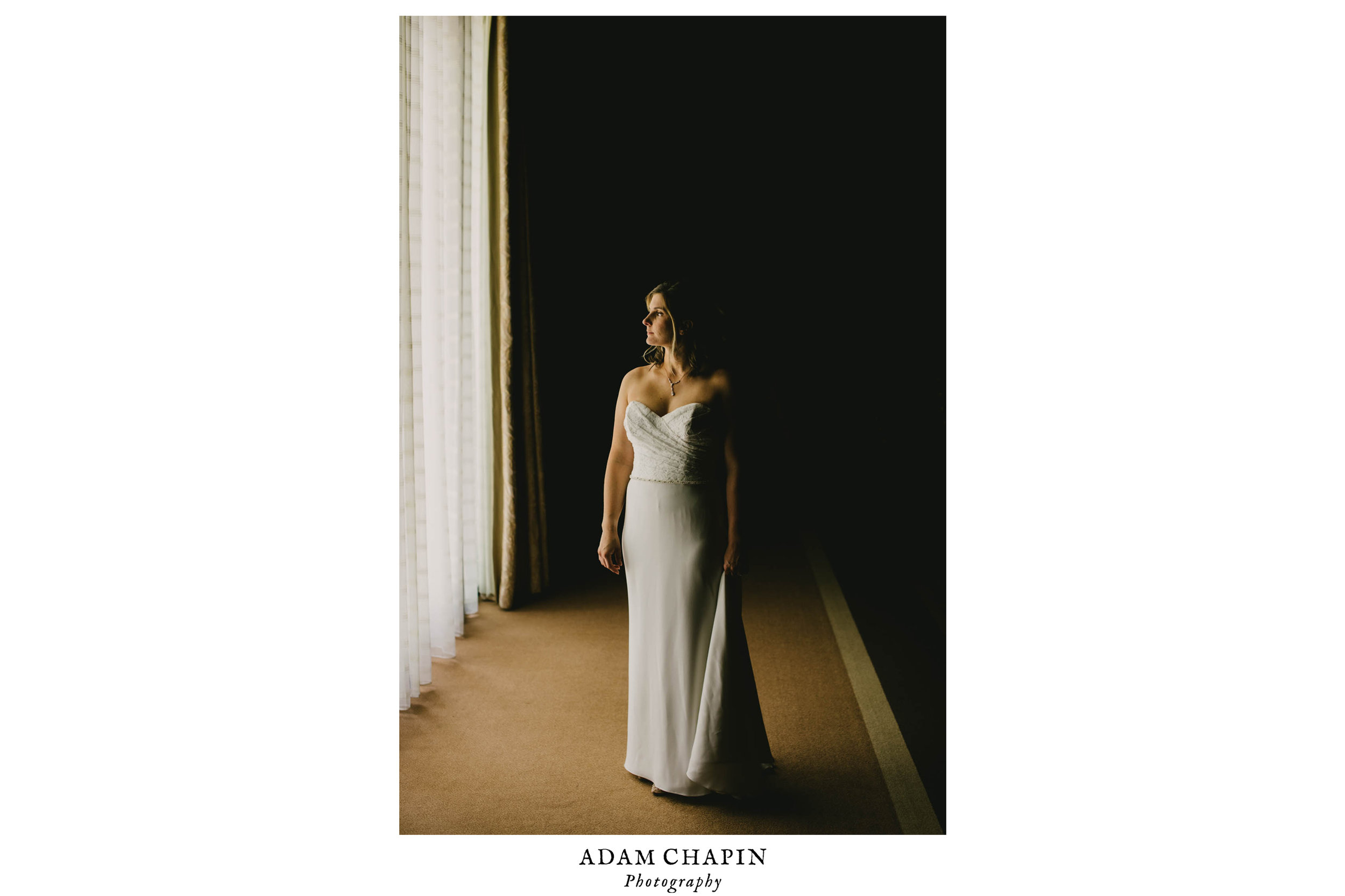 portrait of bride at The Umstead Hotel and Spa