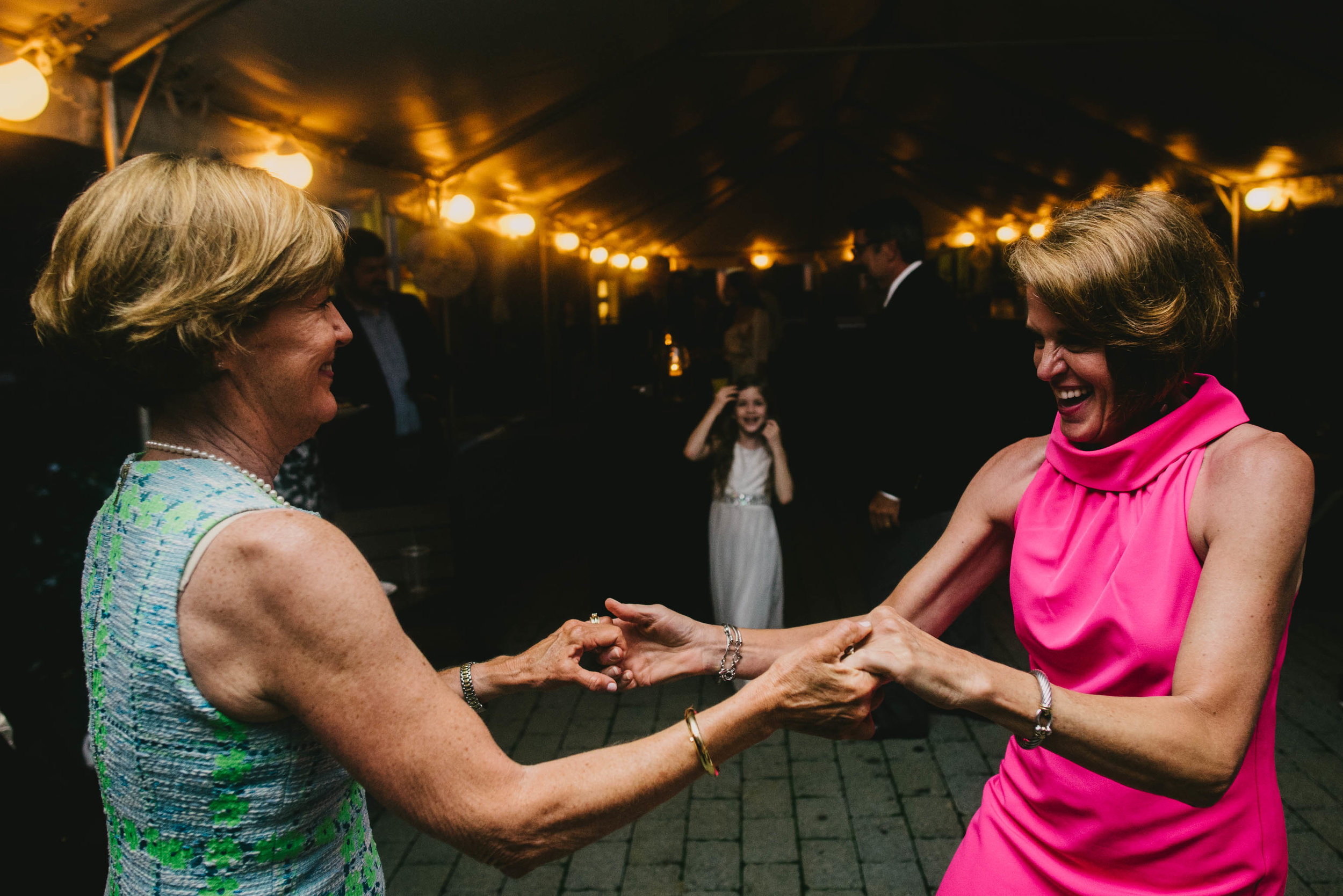 guests dancing at this Jiddi Space and Courtyard Wedding at Sitti Restaurant
