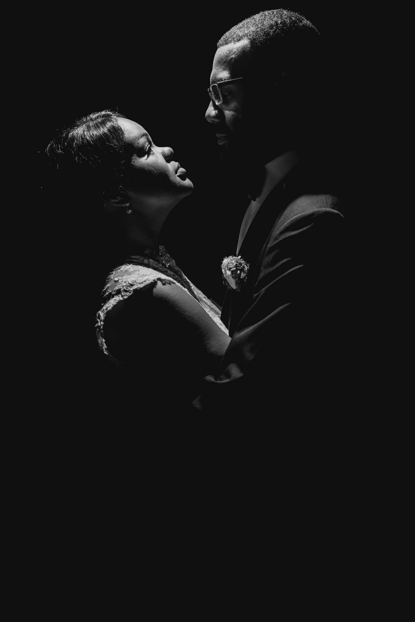 bride and groom portrait during their wedding at the Umstead Hotel and Spa
