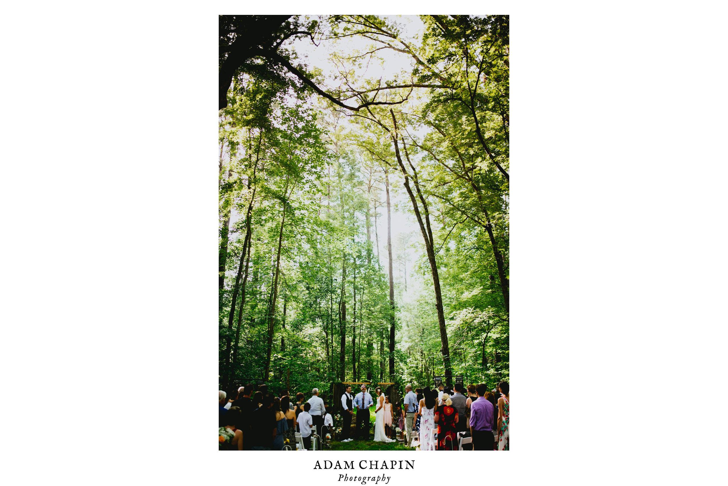 wedding ceremony in Duke Forest