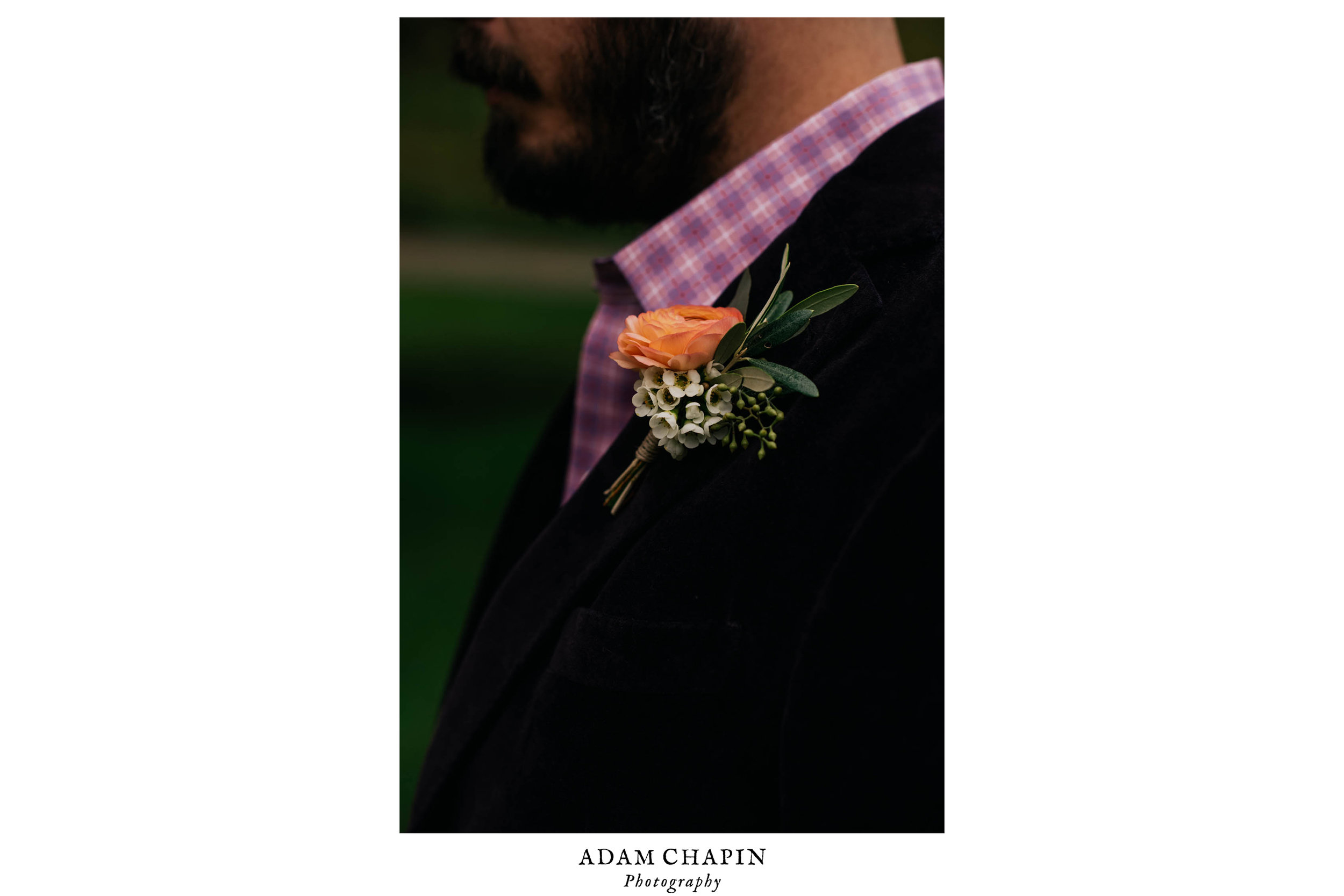 grooms boutonniere from urban farm girl flowers