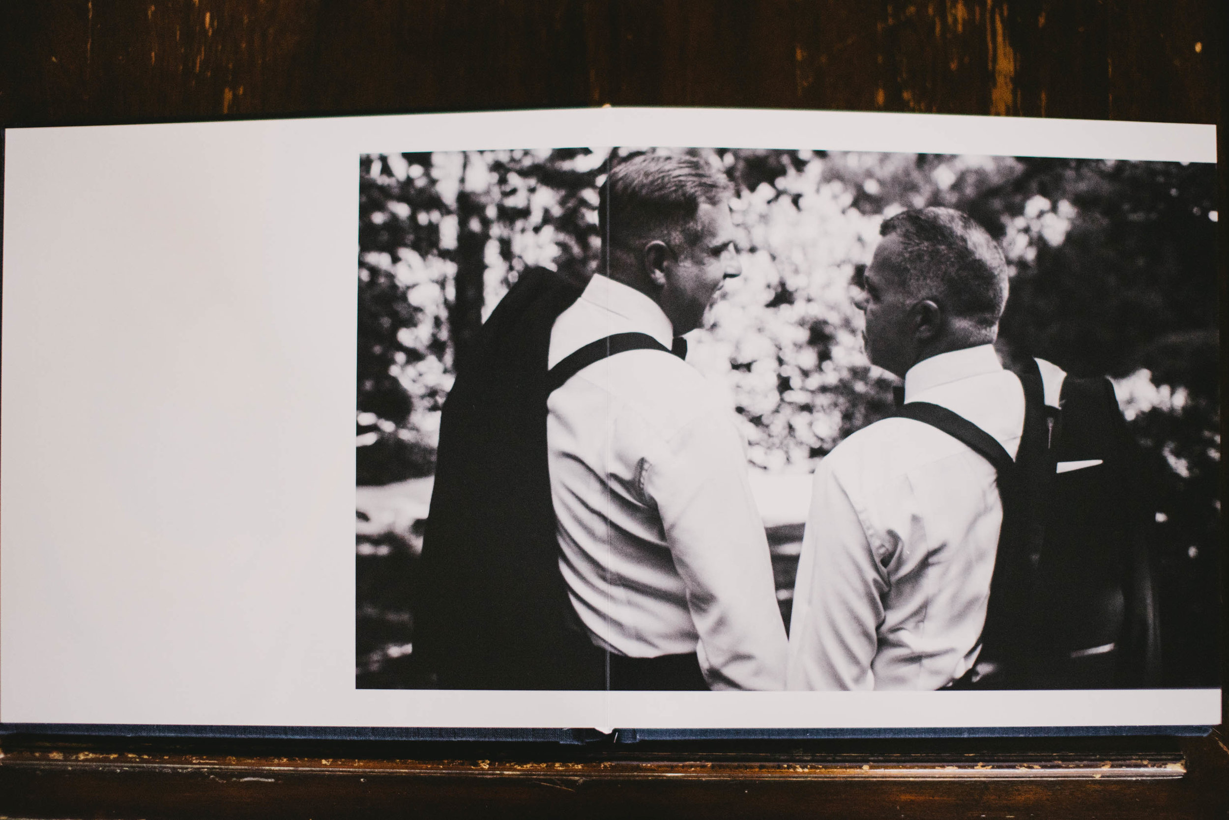 Lay-flat spreads on semi-matte true photographic paper