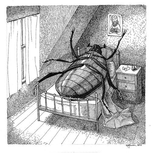 Blackass  is a satirical novel ala Kafka's  The Metamorphosis. Main character  Furo Waikombo  not waking up as a gigantic beetle , but instead becomes a Nigerian who wakes up as a white man.