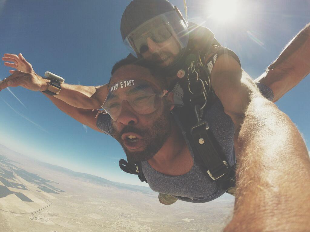 Skydiving = Healthy Adrenaline