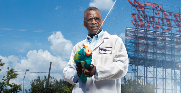 Super Soaker creator Lonnie Johnson, is a nuclear engineer, Tuskegee University Ph.D. and former NASA scientist. He founded his company in 1989. It was the same year he first licensed the Super Soaker, which generated more than $200 million in retail sales two years later