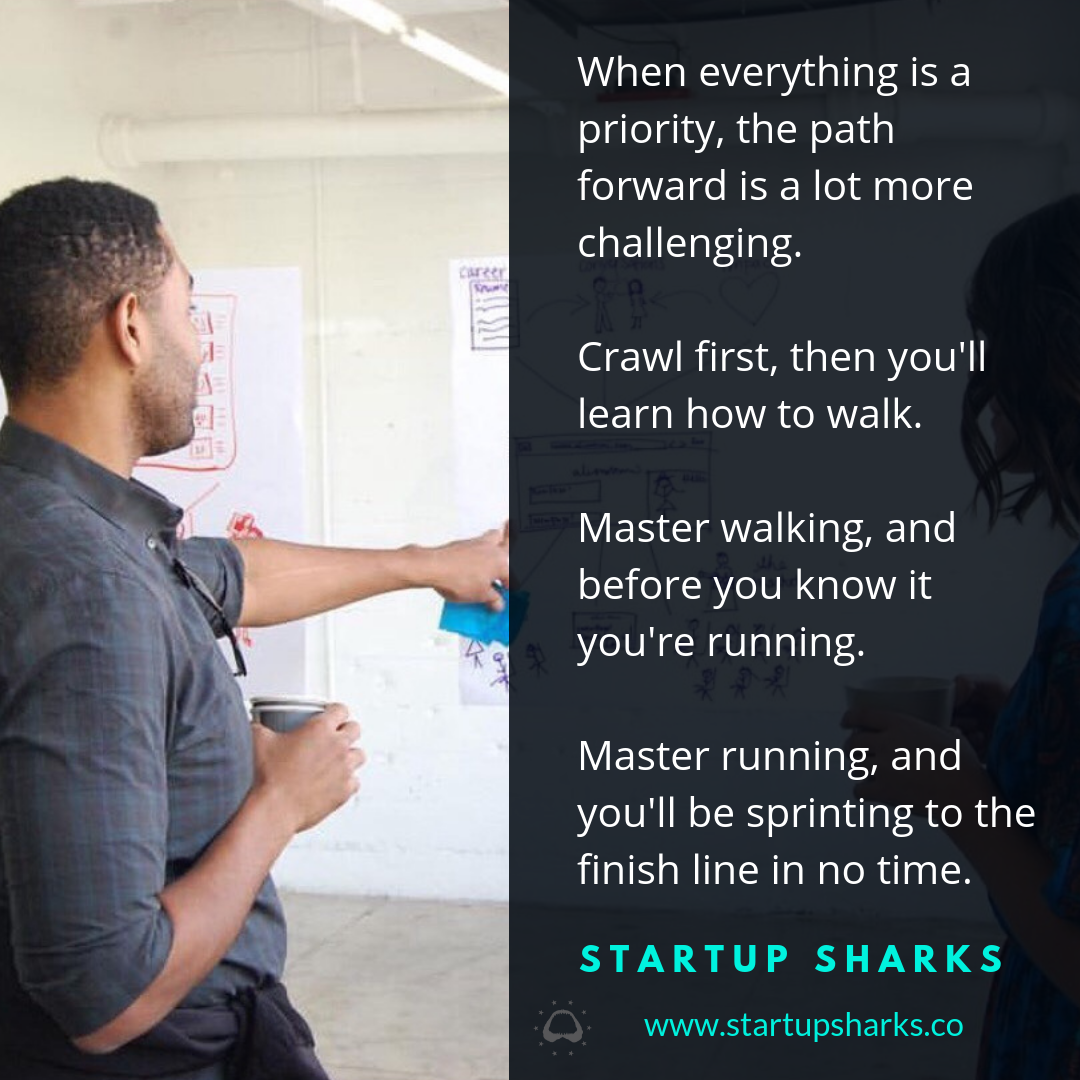 When everything's a priority, then nothing's a priority.Learn how to crawl then you'll learn how to walk.Get good at walking, and before you know it you're running.Master running, and you'll be spriting to the finish (1).png