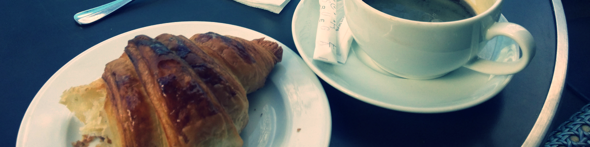 ...and absorbing the atmosphere as you bite into a light-as-air buttery croissant in a café.