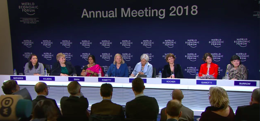 Some of the most powerful and influential women in the world currently, chair the World Economic Forum's annual meeting 2018 last week at Davos, Switzerland.