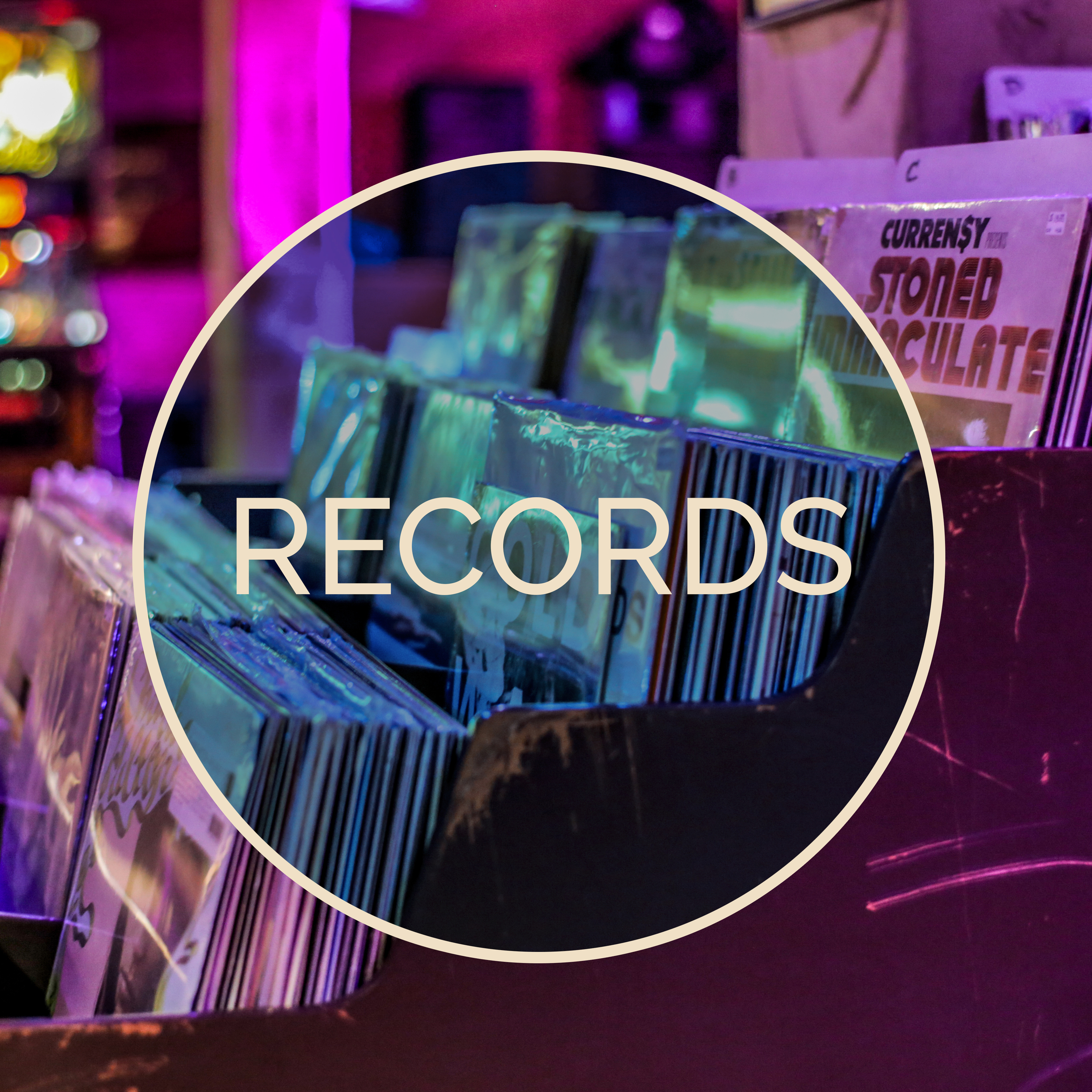 Check out our in-house record store