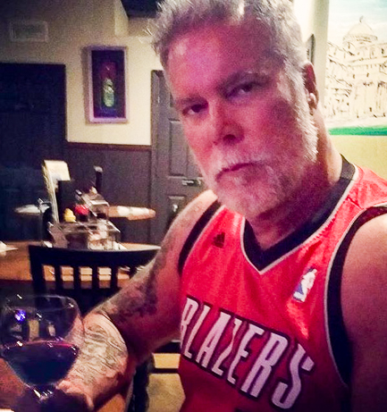 Kevin Nash texts me a photo of himself drinking K&L's latest shipment this week