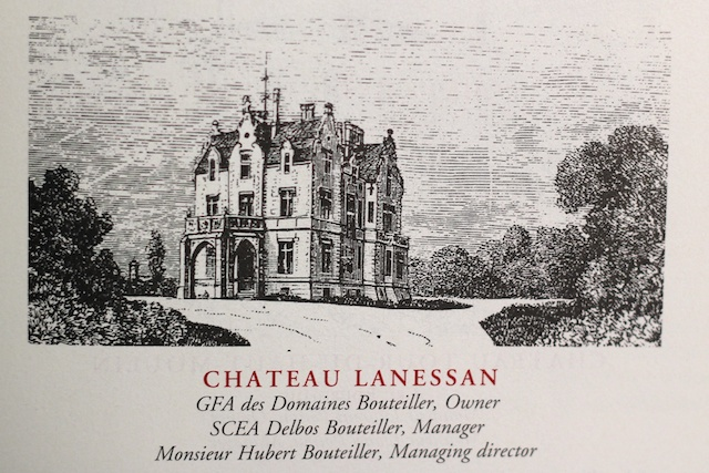 The estate as shown in Cocks & Feret - The Wines of Bordeaux 15th Edition