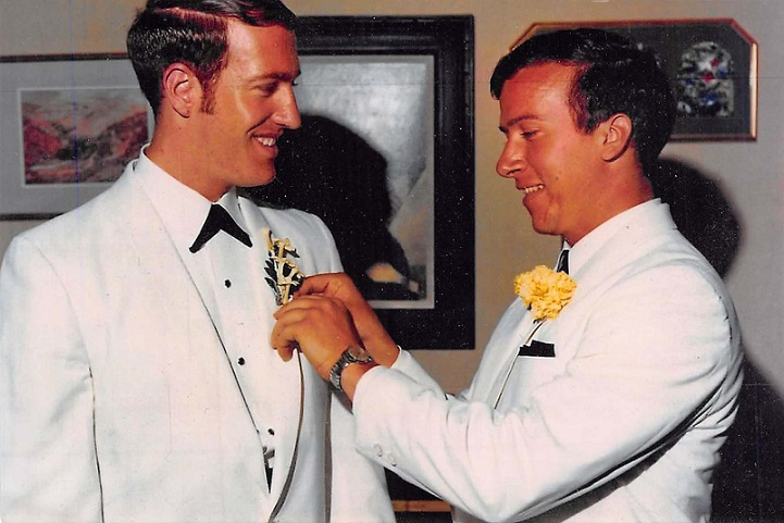 Todd (left) and Clyde (right) on Todd's wedding day.