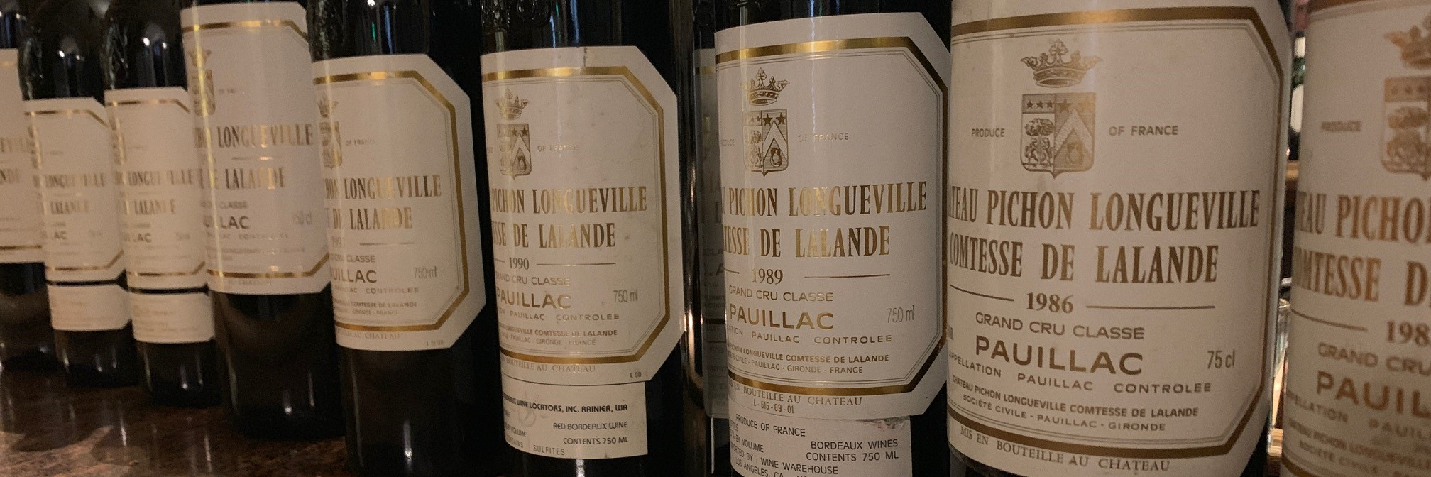 Ten Vintages of Pichon-Lalande from 2010 to 1981