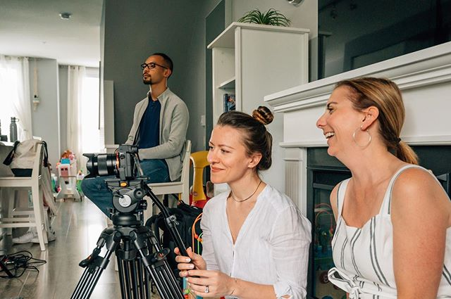 Krista was recently on location working with @elenasarasom @joelchlaw & @cathmethven directing/producing a couple promo videos for @littlebirdvancouver Stay tuned for the release! 📷 @cathmethven . . . . . #yellowheartpictures #promovideo #corporatevideo #bts #behindthescenes #director #femaledirector #producer #femaleproducer #directorofphotography #dop #femaledp #femaledop  #sleepconsultant #sleepcoach
