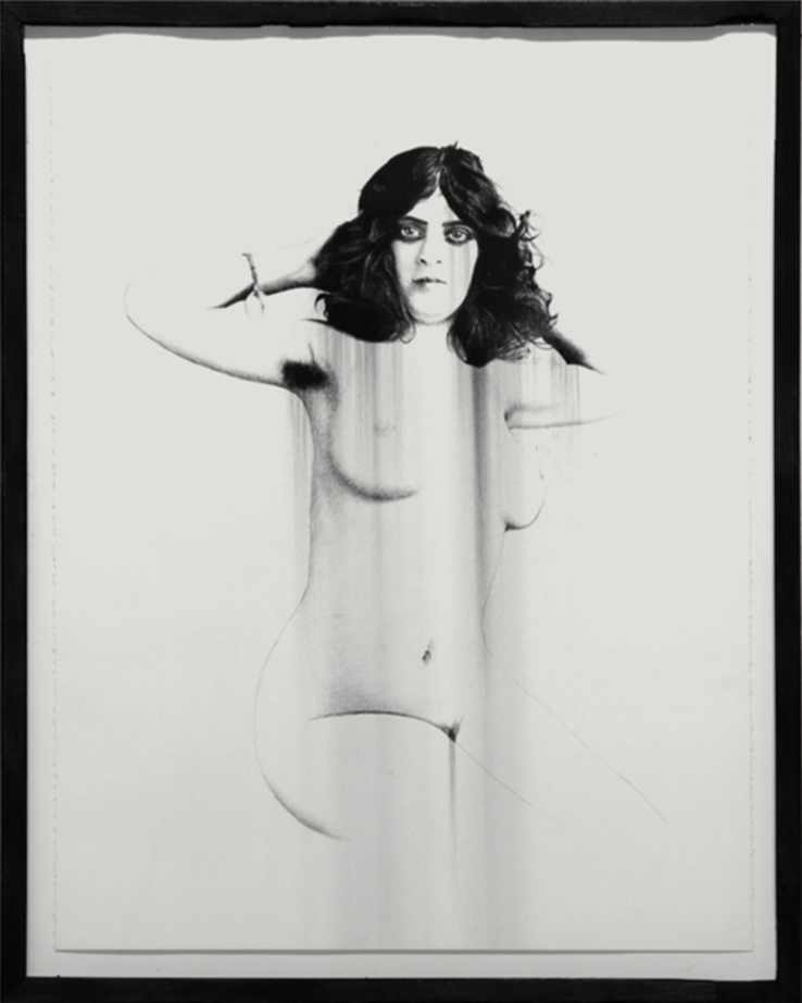 """Victorian Nude, charcoal on paper, 28""""X22"""" 2013"""