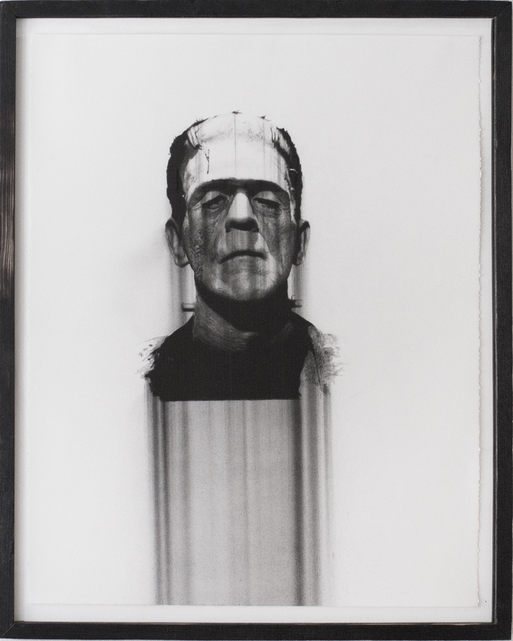 "Boris Karloff, charcoal on paper, 28""X22"" 2013"