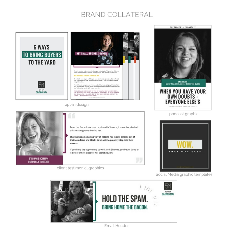 Hey Hey Shawna May Brand Collateral