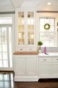 Custom Apothecary style kitchen cabinet