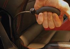 Lumbar support hand pump