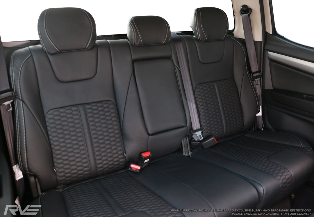 Holden Colorado, Upgraded leather, rear seats, Honeycomb inserts