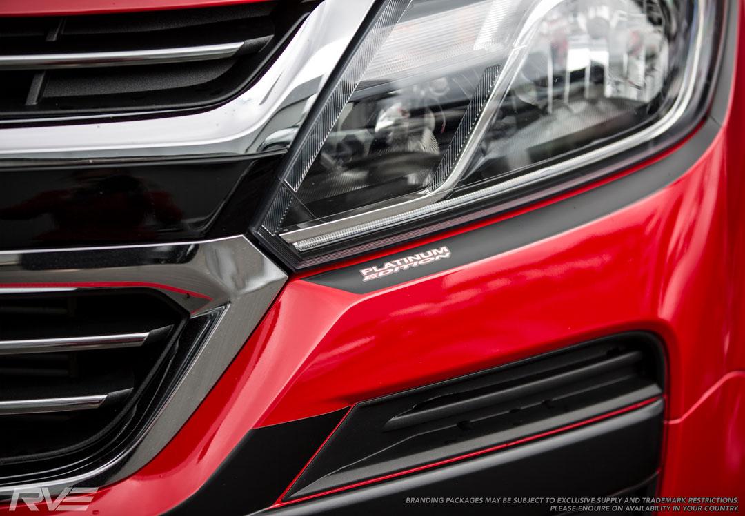 Holden Colorado Front detail Platinum Decals