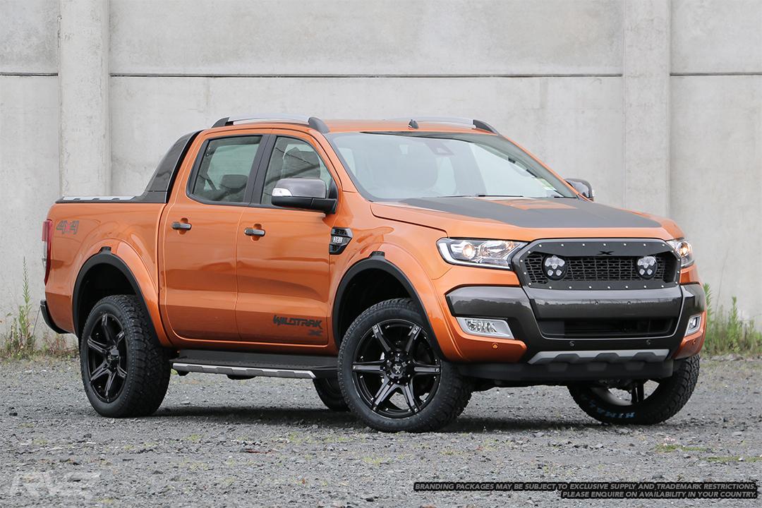 Ford Ranger Wildtrak X in pride orange.