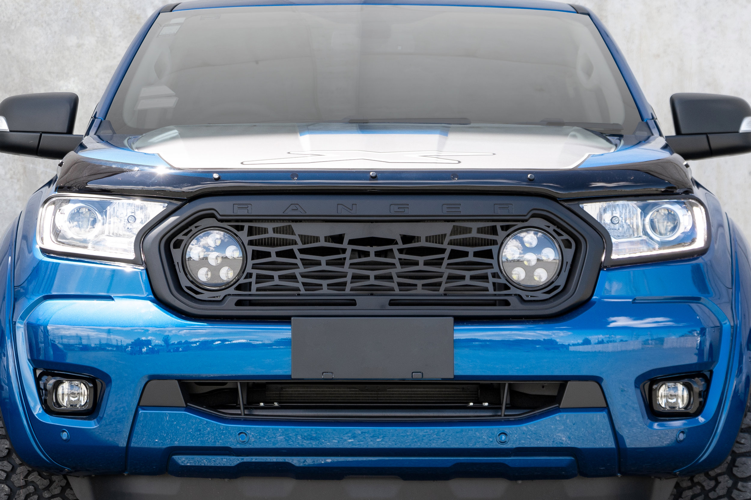 Grille mesh with lights