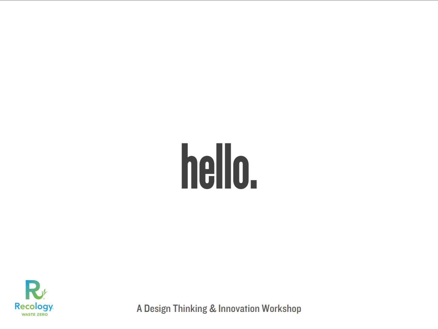 Workshop Presentation Slides